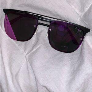 quay purple tent sunglasses